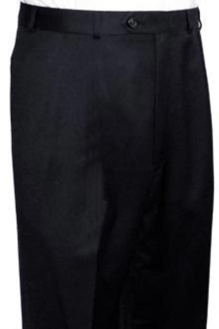 Ralph Lauren Black Flat Front, Open Bottom unhemmed unfinished bottom