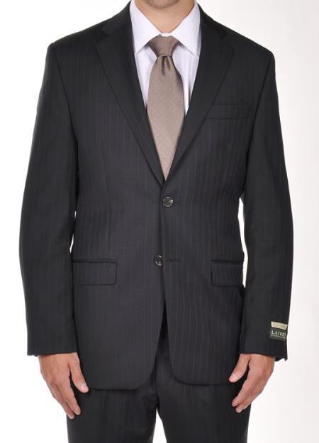 2 Buttons Notch Lapel Men suit separates Dark Navy Pinstripe Dress Suit