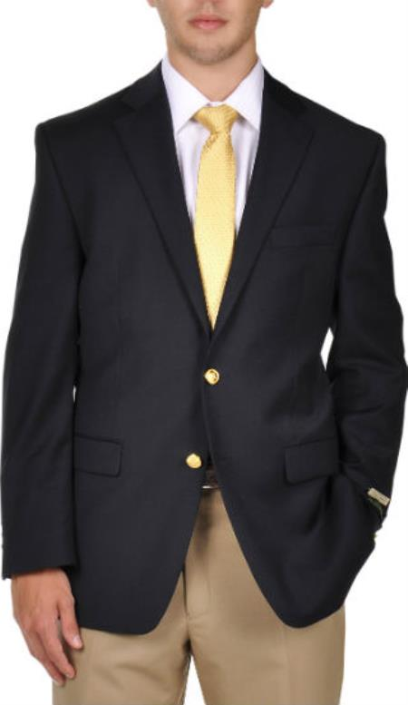 Pure Wool 2-Button Lewis Blazer Navy
