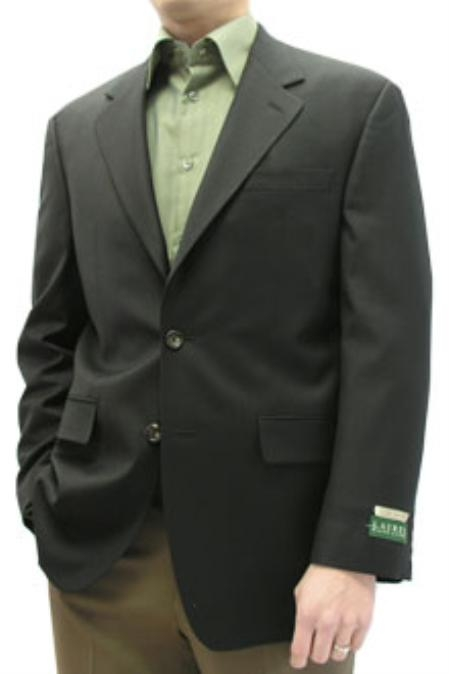 SKU#BDF712 Cotton Summer Light Weight Black blazer 100% natural stretch Cotton 2 button single breasted $185