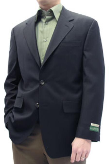SKU#SKA412 Cotton Summer Light Weight Navy blazer 100% natural stretch Cotton 2 button single breasted $165