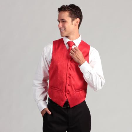 4-Piece Red Corrugated Vest