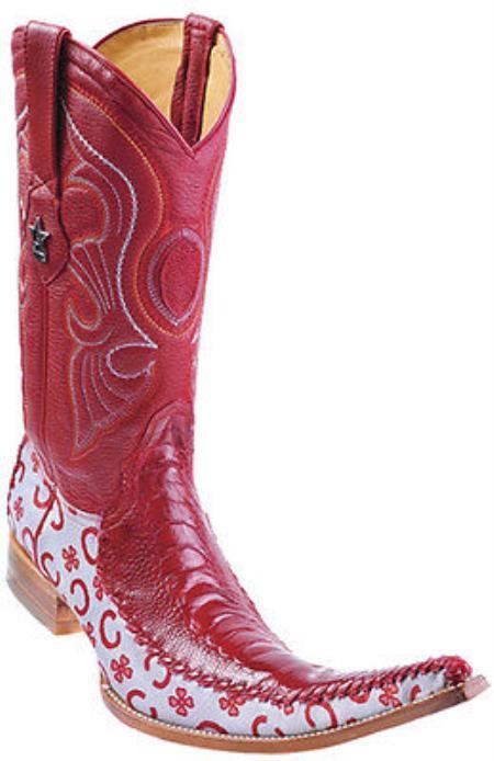 tribalerasOstrich Leg Leather Red