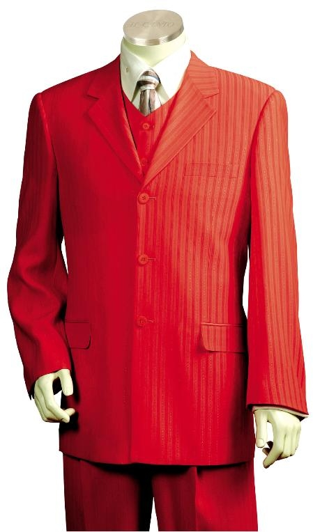 Mens Exclusive Stunning Zoot Suit Deep Red