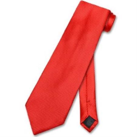 Red Horizontal Mens Design Neck Tie
