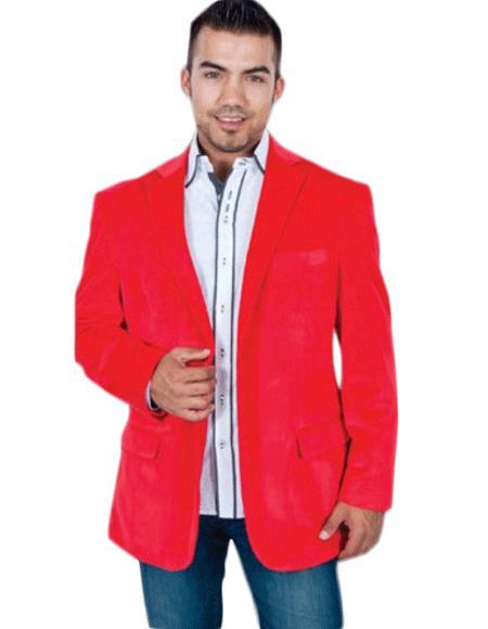 Red Men's blazer Jacket
