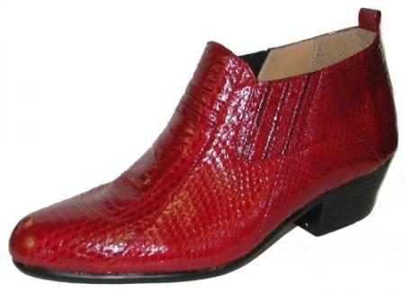 Genuine Snakeskin Boots Red