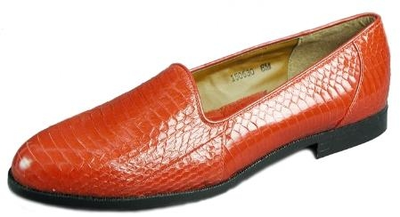 SKU#ASH15063 Red All exotic snake skin uppers dress loafers $139