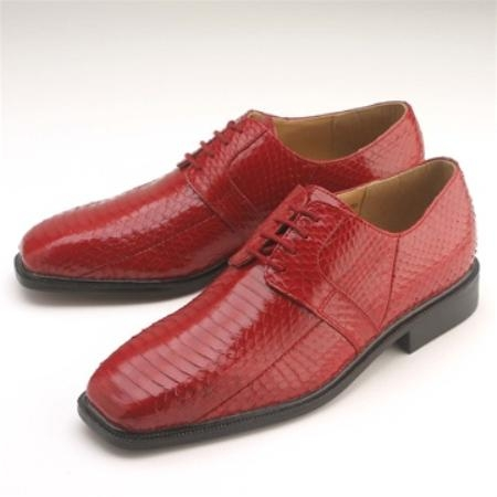 SKU#RL942 Red Snakeskin Lace-Up $750