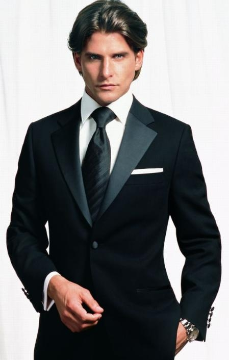 SKU#GGBG2 Retail:$1200 Most Luxurious Slim Fitted Tapered Tuxedo 2 Button Tuxedo Merino Wool on Sale $295