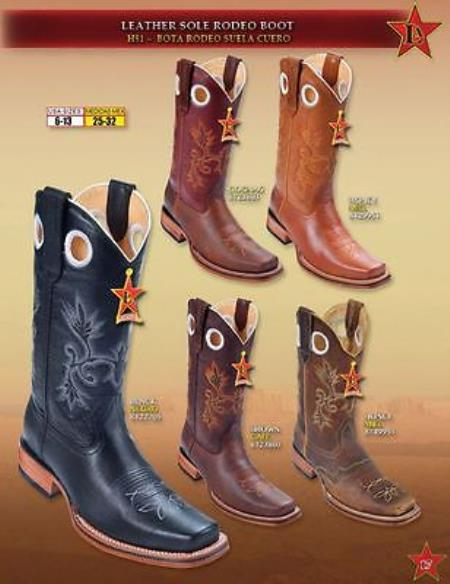Boots Leather Sole Cowboy