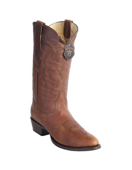 Mens Honey Handcrafted Wild West Genuine Rage Cowboy Leather Round Toe Boots