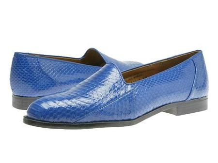 SKU# GQC377 15063 Royal Blue All exotic snake skin uppers
