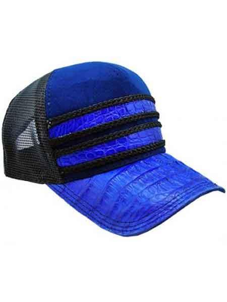 f5881e55ef6e07 Royal Blue/Black Genuine Ostrich World Best Alligator ~ Gator Skin ...