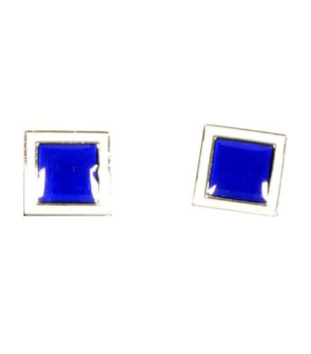 Buy CD051-S Ferrecci Royal Blue Favor Cuff Links 2pieces Set Fancy Gift Box