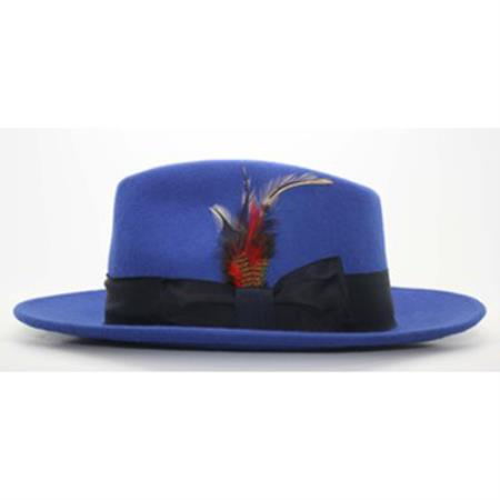 Royal Blue/Navy Fedora Hat