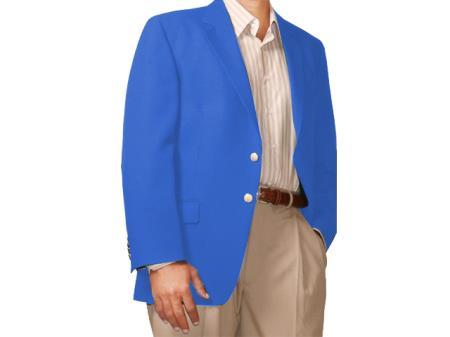 Two Button Blazer Royal-blue