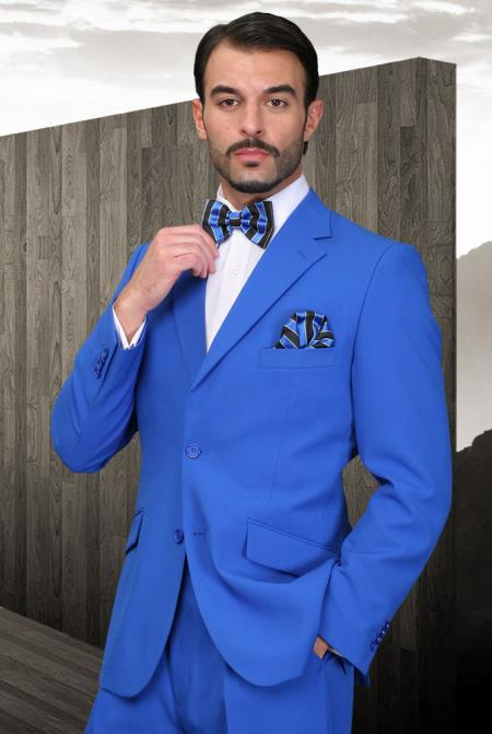Mens Royal Blue Dress Cheap Priced Business Suits Clearance Sale for Men 2 Button Super 120's Extra Fine 2 Piece