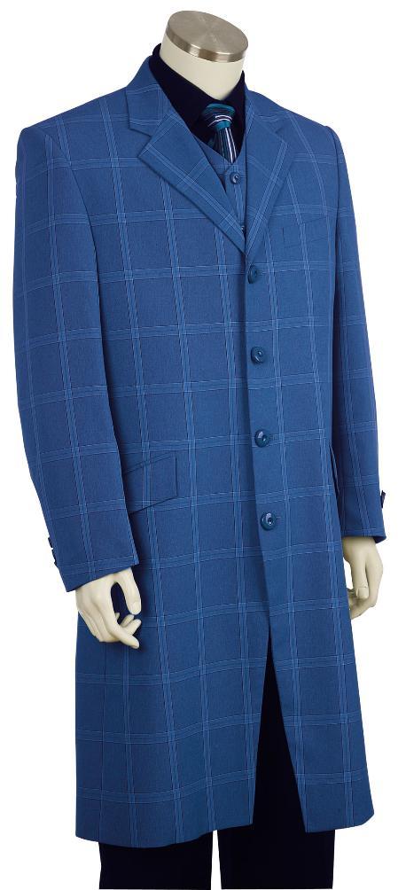 SKU#HY8160 Mens Stylish Zoot Suit Royal