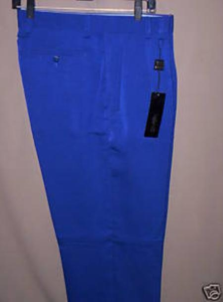 SKU#KH822 long rise big leg slacks Royal Blue Wide Leg Dress Pants Pleated baggy dress trousers $69