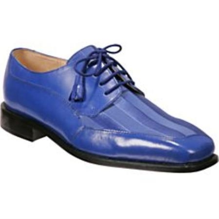 SKU#81213 Royal Blue - Unique Twist on a Traditional Dress Shoe Lace Up Tassels $99