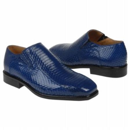 SKU#UC902 Royal Snake Embossed Leather Shoes $850