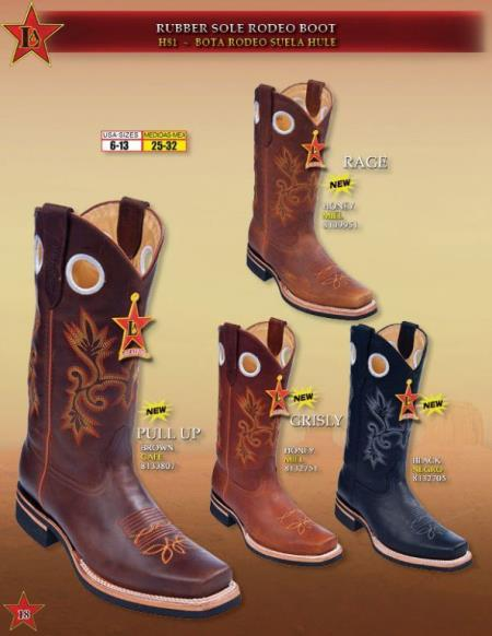 Rodeo Boots Rubber Sole