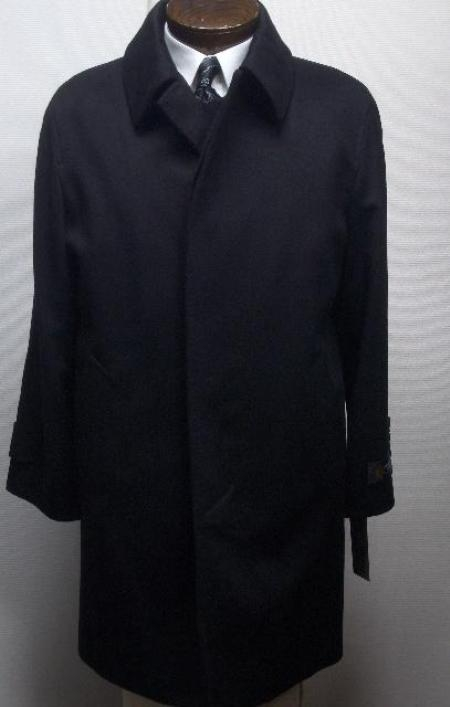 """Ryan121 38"""" three button single breasted coat with a center-vent, fly front"""