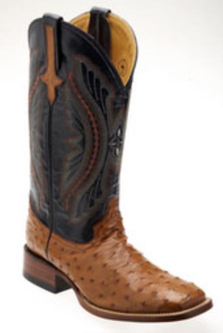 Ferrini Men's Smooth Ostrich S-Toe Boots