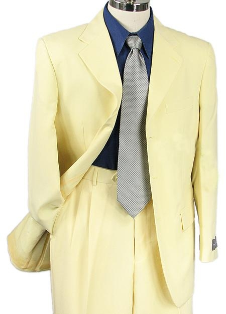 SKU#PZ7789 SHARP 2pc MEN 3B DRESS SUIT BANANA $125
