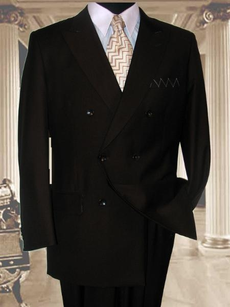 SKU# SHA333 JPR-27 SOILD BROWN DOUBLE BREASTED SUPER 150S WOOL SUIT HAND MADE $189