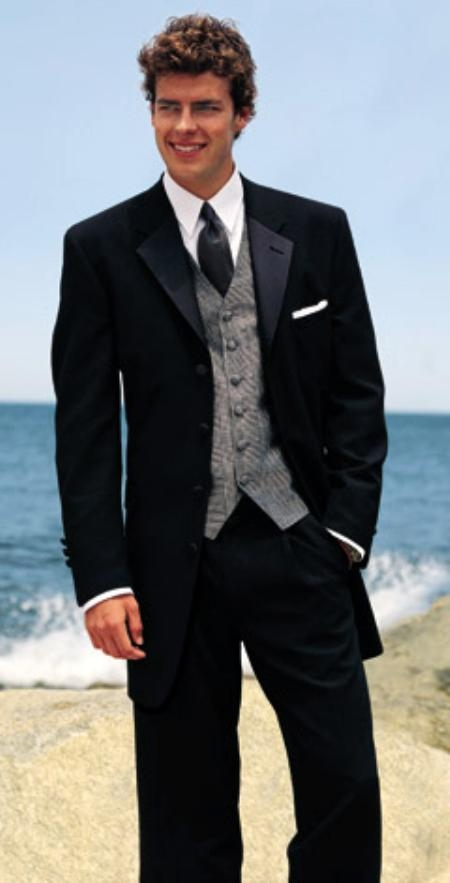 SEU#WE923 SUPER 150S Signature Platinum Stays Cool Taylored MENS BLACK WOOL TUXEDO 4 BUTTON HAND MADE ITALIAN DESIGN FRENCH $274