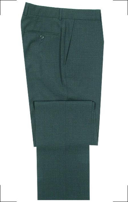 SKU# DWR754 SUPERB QUALITY TAILORING Front Super 120s Wool Dress Slacks $99