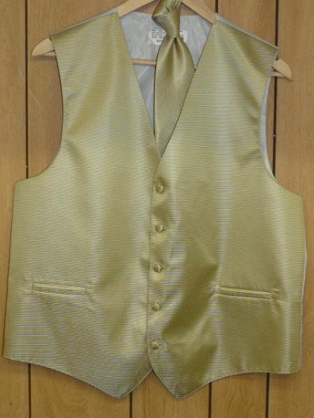 Mint ~ Sage Groomsmen Dress Tuxedo Wedding Vest  & Tie set