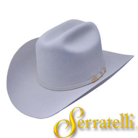 Buy KA9828 Serratelli Hat Company-10x Beaver Fur Felt Western Cowboy Hat – Platinum