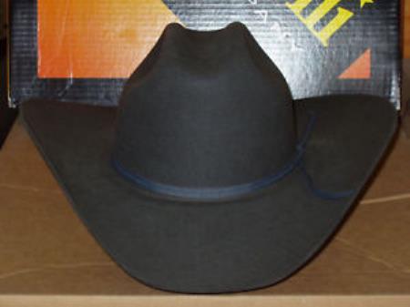 BEAVER Dark Gray 5x Entre ~ Western Cowboy Tejana Serratelli Designer Hat