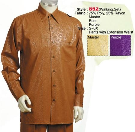 SKU#PA412 2PC Set Casual Suit in Mustard or Purple or Rust $89