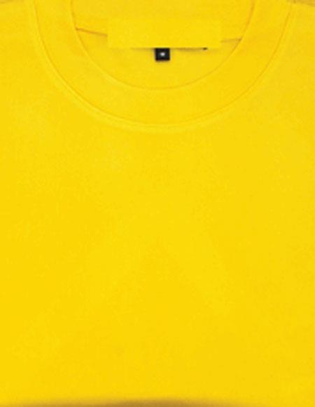 Men's Gold Shiny Short Sleeve Stylish Shirt