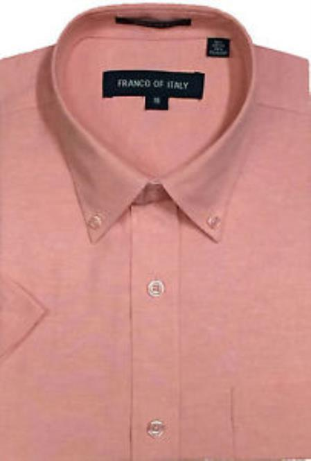 Oxford Dress Shirt Peach