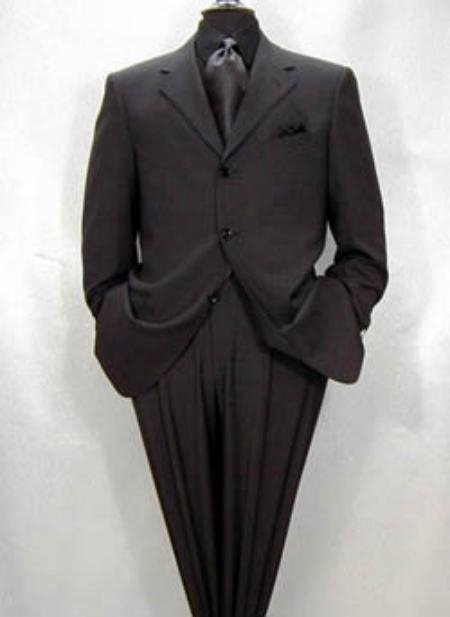 SKU# BHT290 Expensive full canvas quality Collection True Charcoal Superfine Super 150s Merino Wool MENS SUIT $295