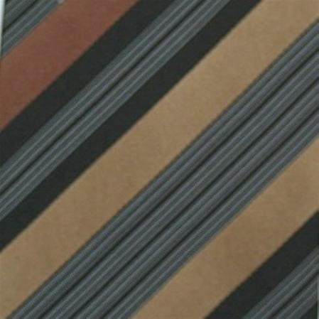 SKU#SW431BL  Silk Brown/Black/Tan/White Extra long Woven Necktie