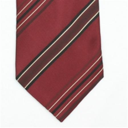 SKU#SW435BL  Silk Burgundy ~ Maroon ~ Wine Color/Black/Beige Extra Long Woven Necktie