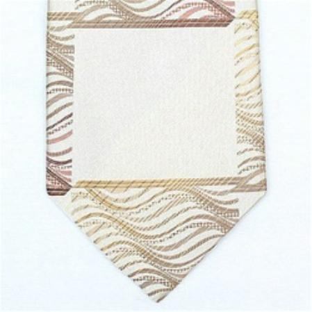 SKU#NS987 Silk Beige/Peach Extra Long Woven Paisley/Flower Pattern Necktie $29