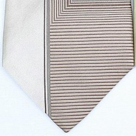 SKU#HD132 Silk Beige/Tan/Brown Woven Necktie $39