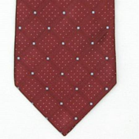 SKU#BU097 Silk Burgundy ~ Maroon ~ Wine Color/blue Woven Necktie $39