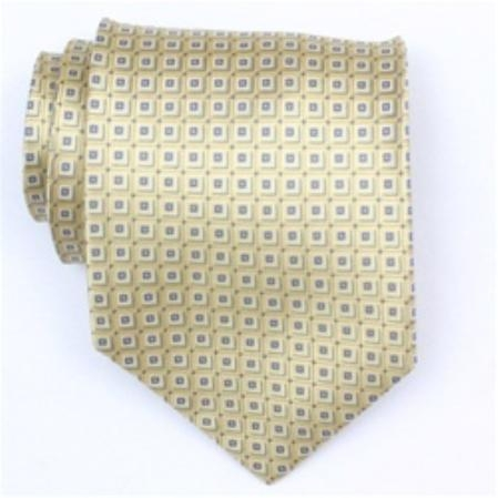 SKU#GO762 Silk Gold/Blue Extra Long Woven Necktie $39