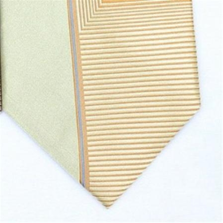 SKU#HC572 Silk Gold/yellow/blue Extra long Woven Necktie $39