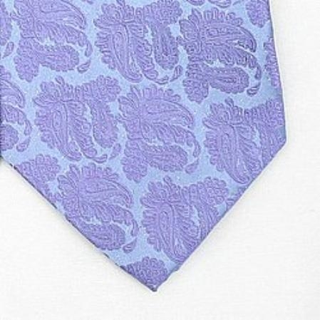 SKU#JS573 Silk Purple/Metallic Silver Woven Paisley/Flower Pattern Necktie $39