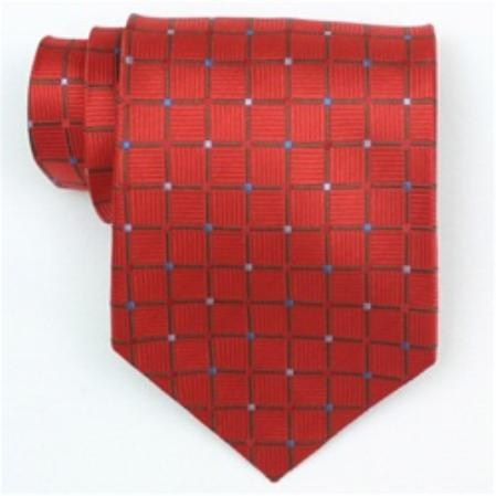 SKU#IX500 Silk Red/Green/Blue Extra Long Woven Necktie $39