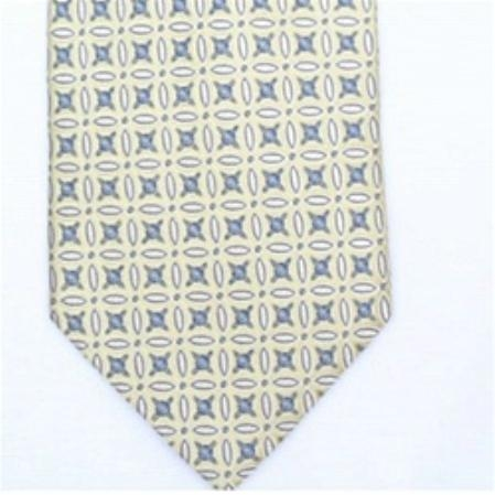 SKU#LQ723 Silk Tan/Blue Extra Long Woven Necktie $39